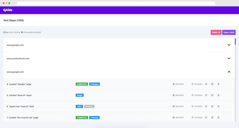 QAide Extension - Dashboard Big
