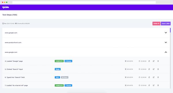 QAide Extension - Dashboard Medium